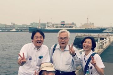 デイサービスゆたかなビレッジ 松本町 秋の港歩行訓練